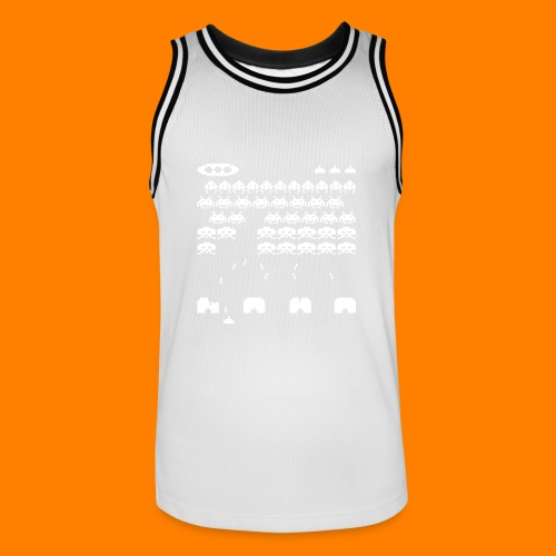 70s and 80s invaders video game - women's tee - Men's Basketball Jersey