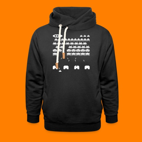 70s and 80s invaders video game - women's tee - Shawl Collar Hoodie
