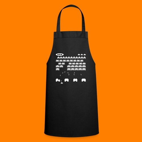70s and 80s invaders video game - women's tee - Cooking Apron