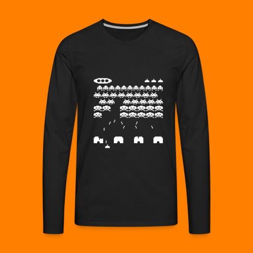 70s and 80s invaders video game - women's tee - Men's Premium Longsleeve Shirt