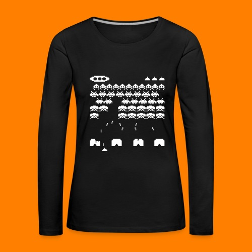 70s and 80s invaders video game - women's tee - Women's Premium Longsleeve Shirt