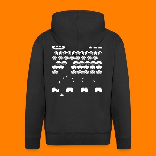 70s and 80s invaders video game - women's tee - Men's Premium Hooded Jacket