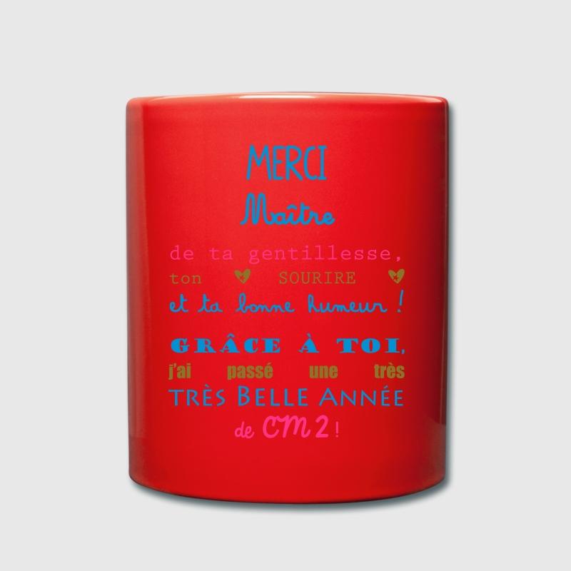 merci maitre cm2 école Bouteilles et Tasses - Tasse en couleur