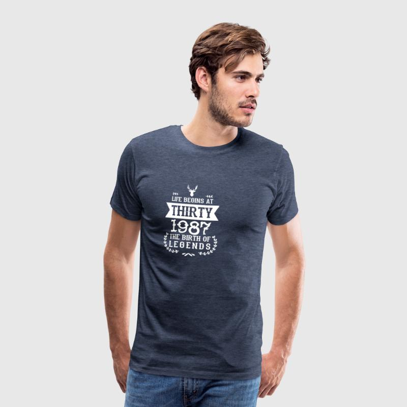 Birthday Shirt 1987 - Men's Premium T-Shirt