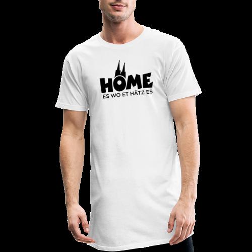 Home es wo et Hätz es (Schwarz) Kölsche Heimat - In Köln Zuhaus - Männer Urban Longshirt