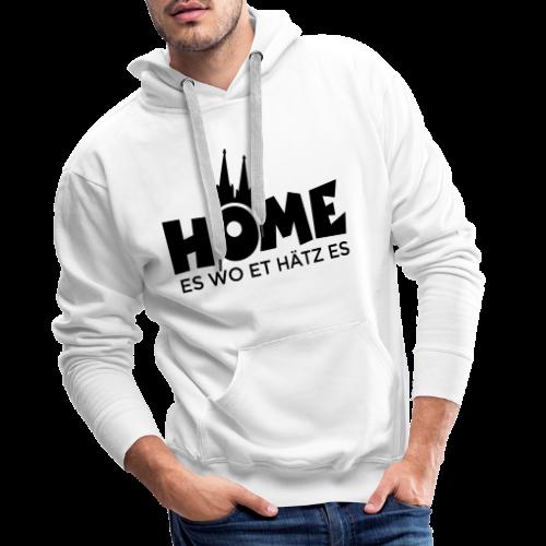 Home es wo et Hätz es (Schwarz) Kölsche Heimat - In Köln Zuhaus - Männer Premium Hoodie