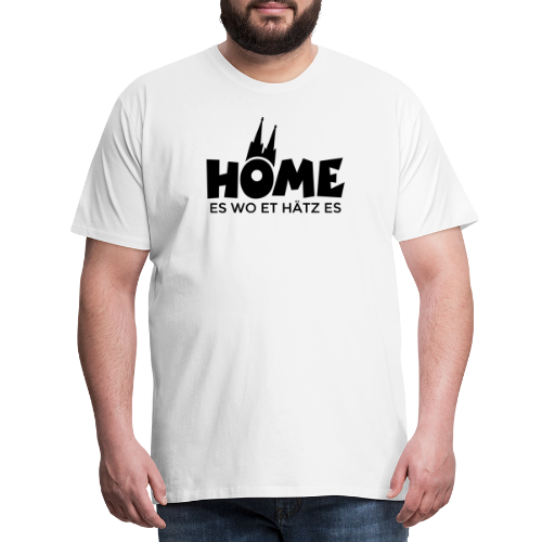 Home es wo et Hätz es (Schwarz) Kölsche Heimat - In Köln Zuhaus - Männer Premium T-Shirt