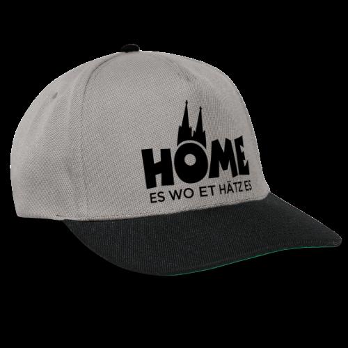 Home es wo et Hätz es (Schwarz) Kölsche Heimat - In Köln Zuhaus - Snapback Cap