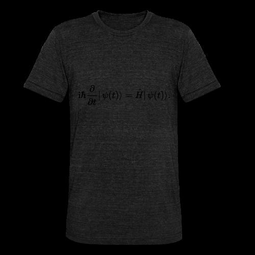 Schrödinger schwarz - Unisex Tri-Blend T-Shirt von Bella + Canvas