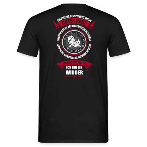 Widder Sternzeichen Horoskop - Männer T-Shirt