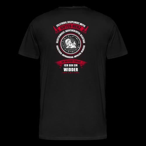 Widder Sternzeichen Horoskop - Männer Premium T-Shirt