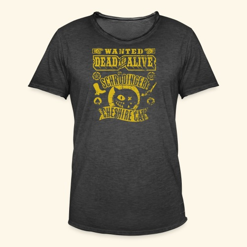 Schrödinger's Cheshire Cat - das Original - Männer Vintage T-Shirt