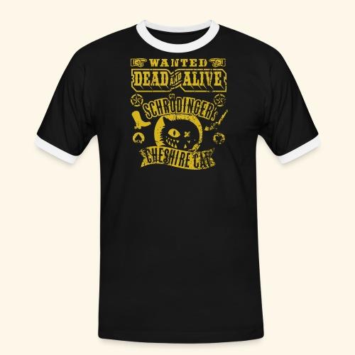 Schrödinger's Cheshire Cat - das Original - Männer Kontrast-T-Shirt