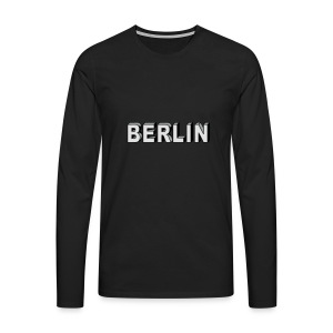 Berlin Block font Caps & Hats - Men's Premium Longsleeve Shirt