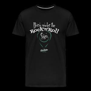 Born under tthe Rock'n'Roll sign - T-shirt Premium Homme