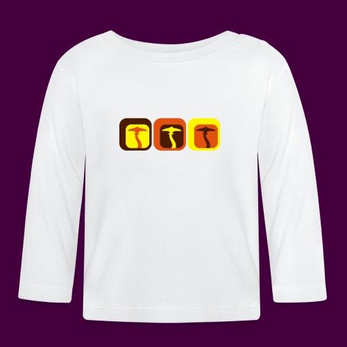 Retro Shrooms - Baby Langarmshirt