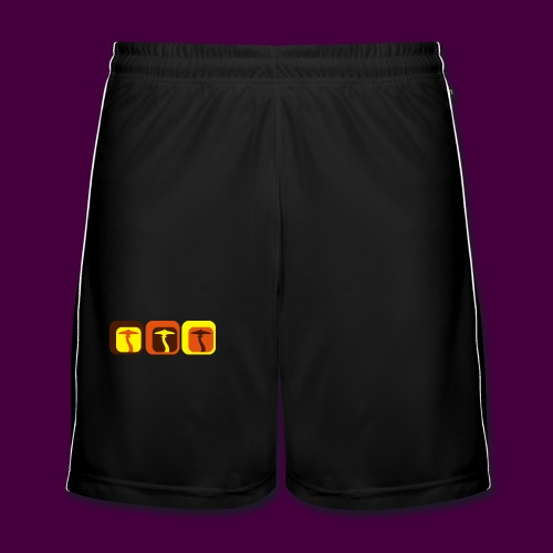 Retro Shrooms - Männer Fußball-Shorts