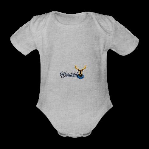 Hirsch mit Schal - Baby Bio-Kurzarm-Body
