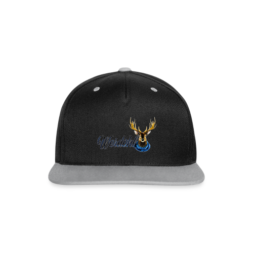Hirsch mit Schal - Kontrast Snapback Cap