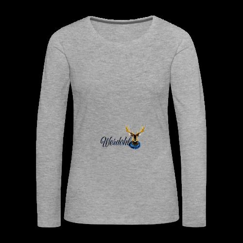 Hirsch mit Schal - Frauen Premium Langarmshirt