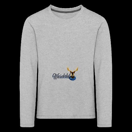 Hirsch mit Schal - Kinder Premium Langarmshirt