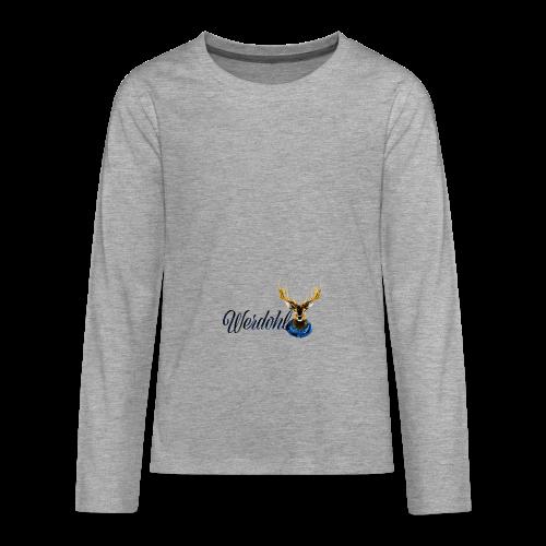 Hirsch mit Schal - Teenager Premium Langarmshirt