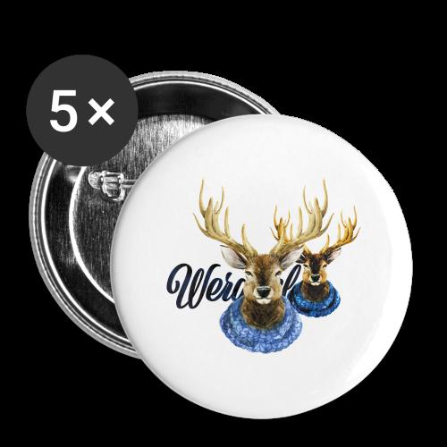 Hirsch mit Kragen - Buttons groß 56 mm