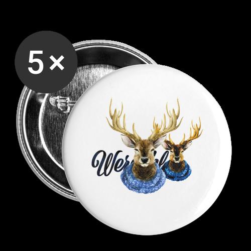 Hirsch mit Kragen - Buttons klein 25 mm