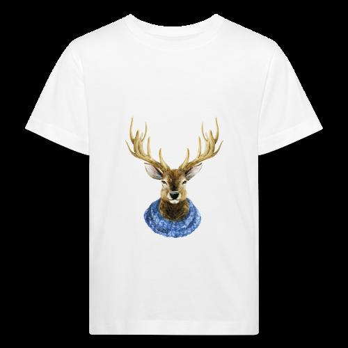 Hirsch mit Kragen - Kinder Bio-T-Shirt