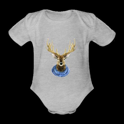 Hirsch mit Kragen - Baby Bio-Kurzarm-Body