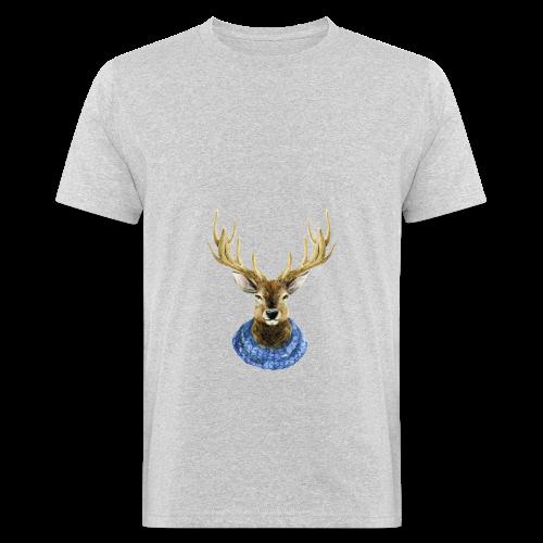Hirsch mit Kragen - Männer Bio-T-Shirt