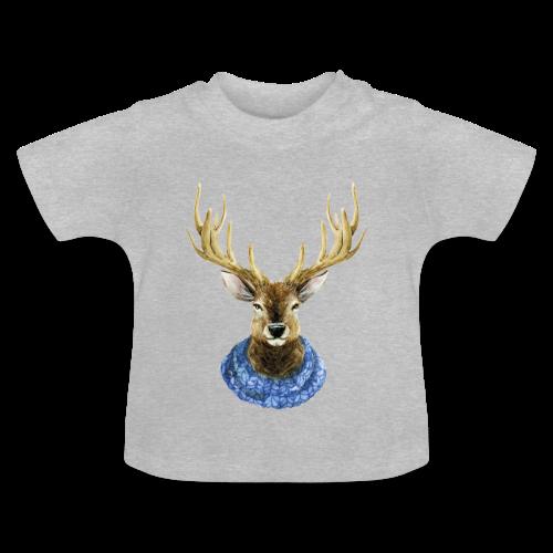 Hirsch mit Kragen - Baby T-Shirt