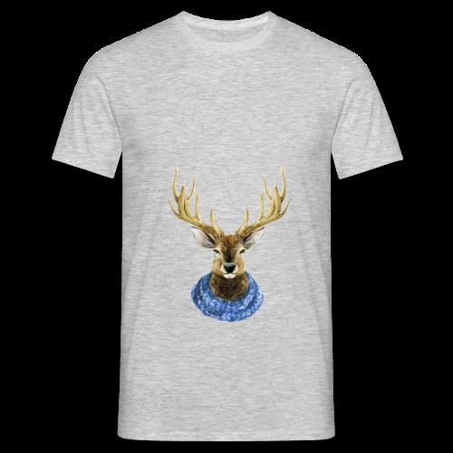 Hirsch mit Kragen - Männer T-Shirt