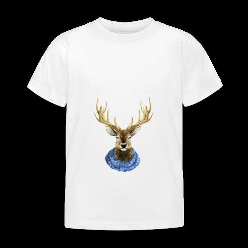 Hirsch mit Kragen - Kinder T-Shirt