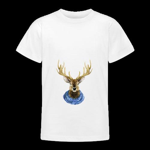 Hirsch mit Kragen - Teenager T-Shirt