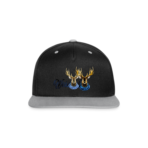 Hirsch mit Kragen - Kontrast Snapback Cap