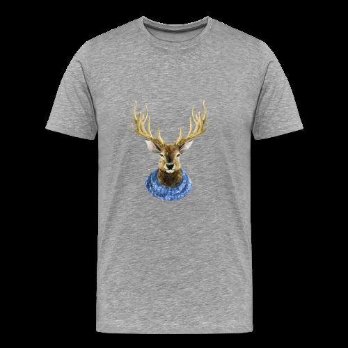 Hirsch mit Kragen - Männer Premium T-Shirt