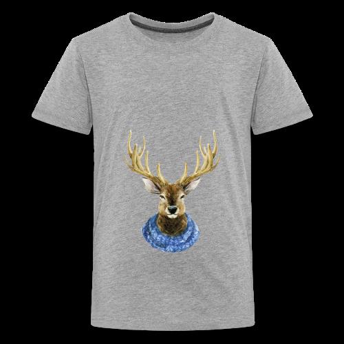 Hirsch mit Kragen - Teenager Premium T-Shirt