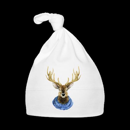 Hirsch mit Kragen - Baby Mütze