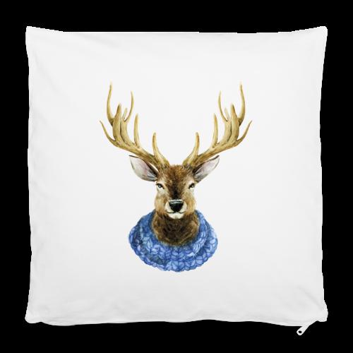 Hirsch mit Kragen - Kissenbezug 40 x 40 cm