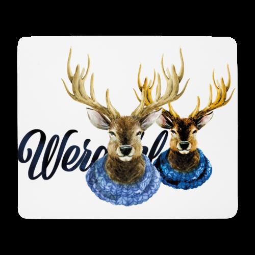 Hirsch mit Kragen - Mousepad (Querformat)