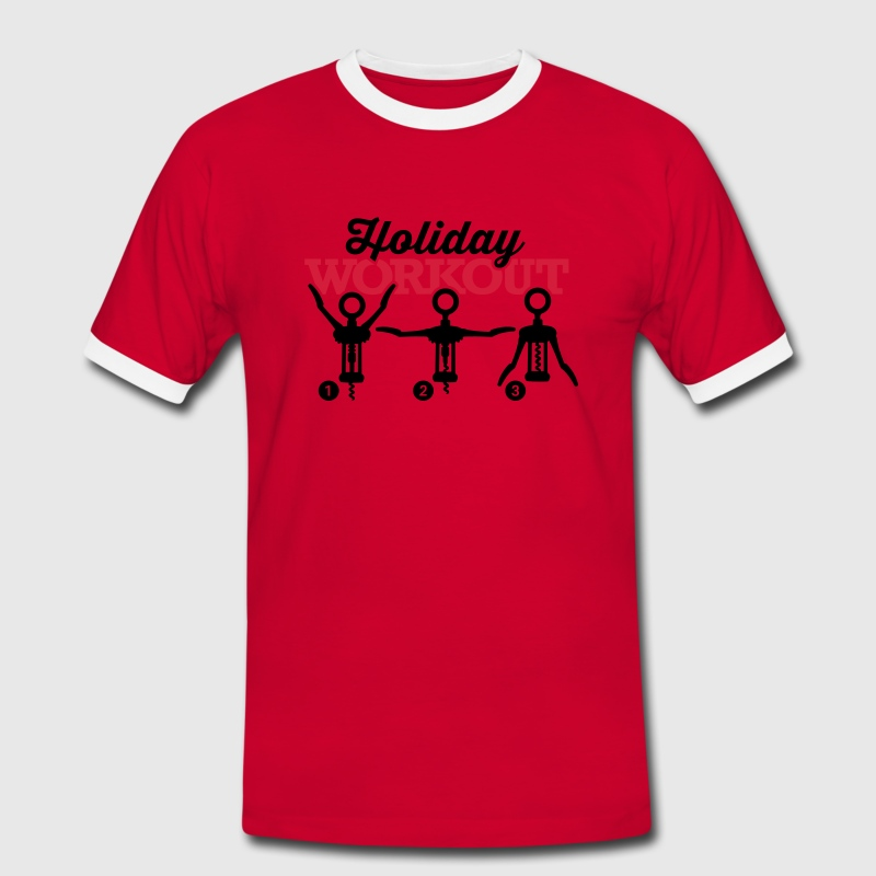 Holiday workout corkscrew T-Shirts - Männer Kontrast-T-Shirt