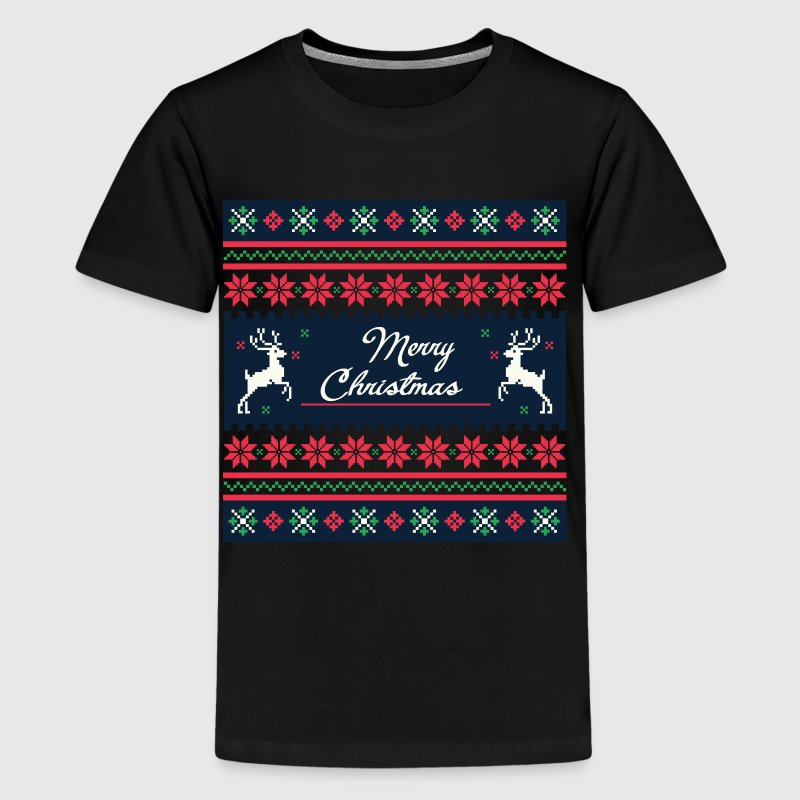 Weihnachts Muster T-Shirts - Teenager Premium T-Shirt