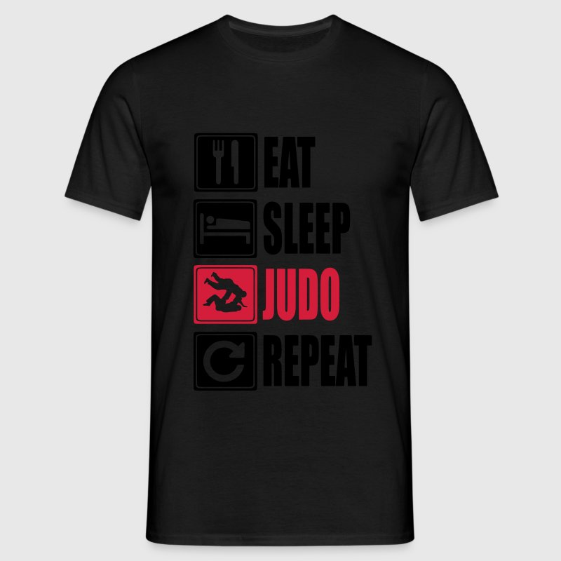 Eat-Sleep-Judo-Repeat Tee shirts - T-shirt Homme