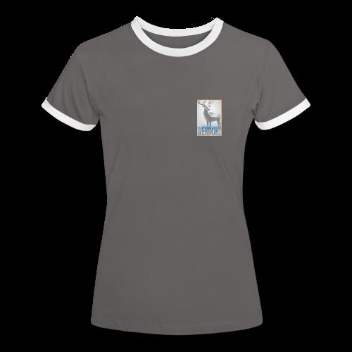 Frauen Kontrast-T-Shirt