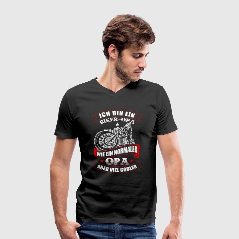 Biker Opa Motorrad fahren T-Shirts - Männer Bio-T-Shirt mit V-Ausschnitt von Stanley & Stella
