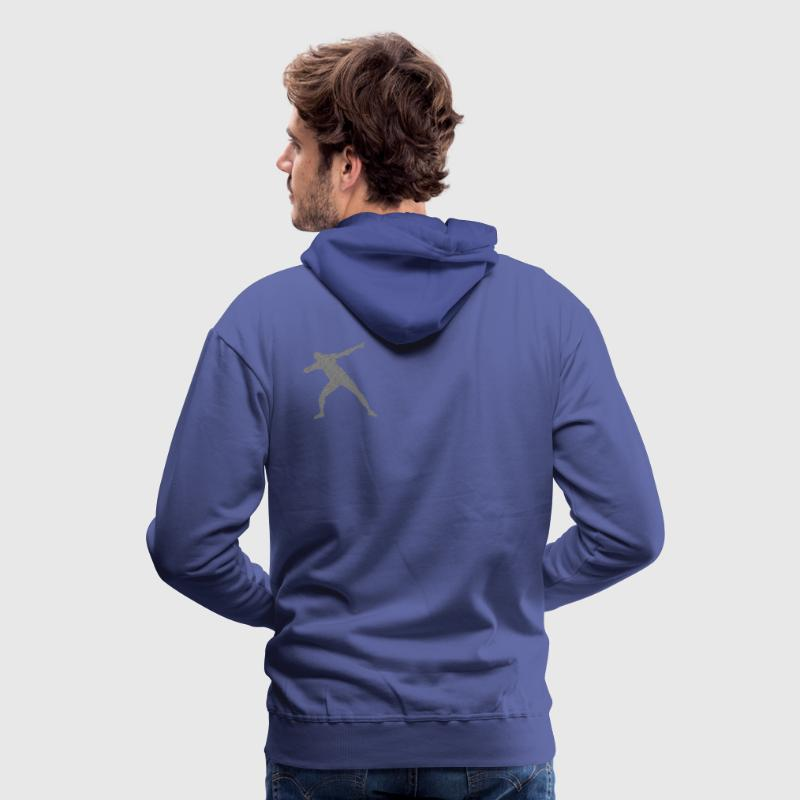 Bolt Victoire Pose Sweat-shirts - Sweat-shirt à capuche Premium pour hommes