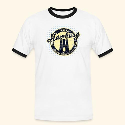 Hamburg - Männer Kontrast-T-Shirt