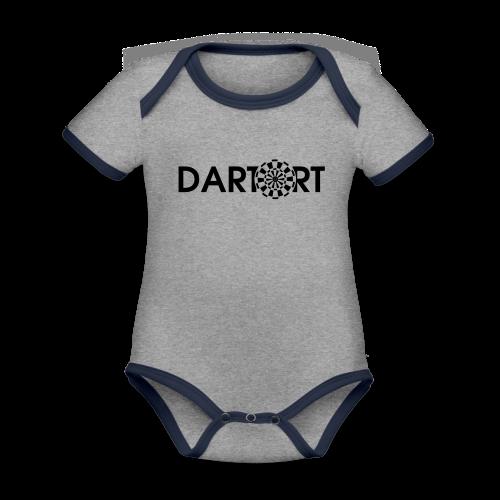Tartort Dartsport Dartort Shirt - Baby Bio-Kurzarm-Kontrastbody
