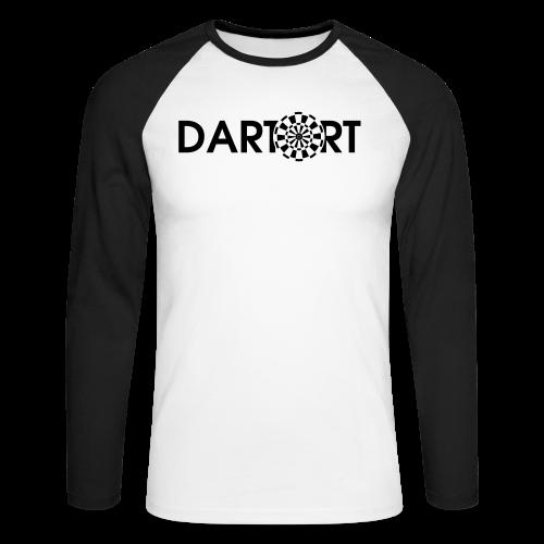 Tartort Dartsport Dartort Shirt - Männer Baseballshirt langarm